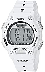 """Timex Men's T5K429 """"Ironman"""" Watch with White Resin Band"""