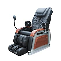Hot Sale OS-2000 Heated Reclining Massage Chair Upholstery: Brown with wood grain