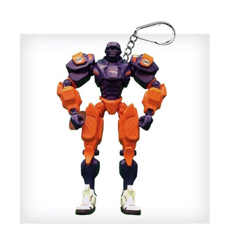 "Denver Broncos 3"" Team Cleatus FOX Robot NFL Football Key Chain Version 2.0"