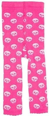 Kid's Sourpuss Clothing Skull Baby Leggings Pink/White by Sourpuss