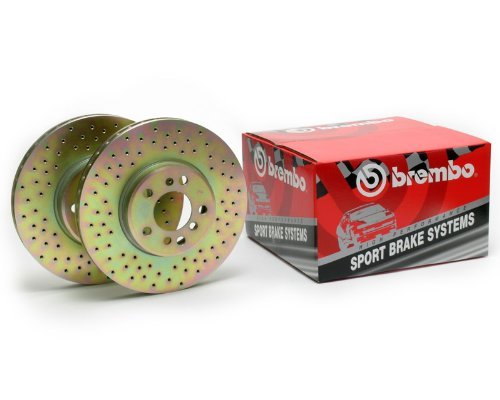 Brembo Sport Cross Drilled Front Rotors Pontiac
