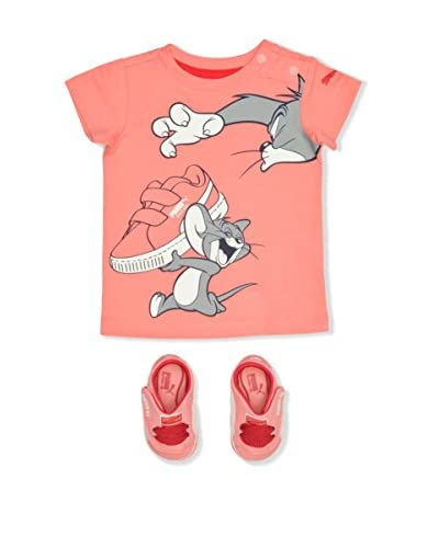 Puma Hausschuh & T-shirt Pack Tom&Jerry lachs