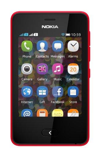Nokia Asha 501 (Dual SIM, Bright Red)