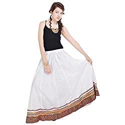 Prateek Retail Specially Designed Long White Skirt