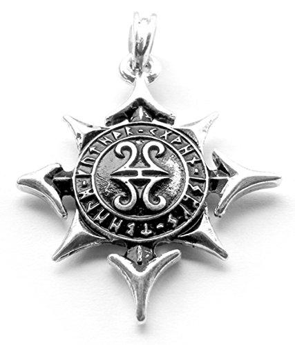 Stella della Asen catena ciondolo, ciondolo in argento Sterling 925Asatru, Odin, Wotan, vichinghi, collana Chaos stella