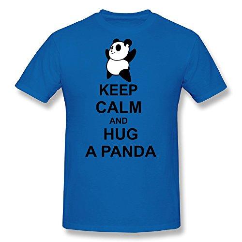 Ptcy Youth T Shirts Keep Clam Hug Panda Us Size Xs Royalblue front-537350