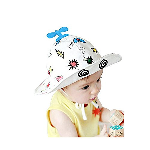 Lalawow Baby Hats Brim Foldable Baby Mesh Caps with 2 Straps for 6-18 Month Baby (Blu)