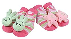 Stephan Baby Go Fish Rattle Socks, Octopus And Pink Starfish By Stephan Baby
