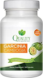 100% Pure Garcinia Cambogia Extract with HCA, Extra Strength, 180 Capsules, All Natural Appetite Suppressant, carb blocker, and Weight Loss Supplement. New and Improved Formula ***Pharmaceutical Grade***