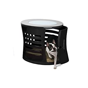 DenHaus ZenHaus Indoor Dog House and End Table Black Small
