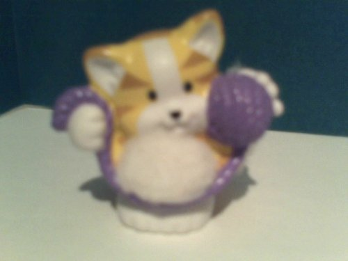 Little People Replacement Figure Touch and Feel Kitten with Yarn Ball - 1