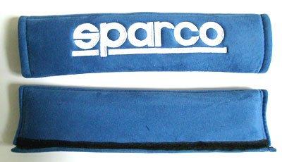 Sparco (2 Inch) Alcantara Memory Foam Blue Color Seat Belt Shoulder Harness Pad (Part: 01090R3AZ) (Sparco Seatbelt Pad compare prices)