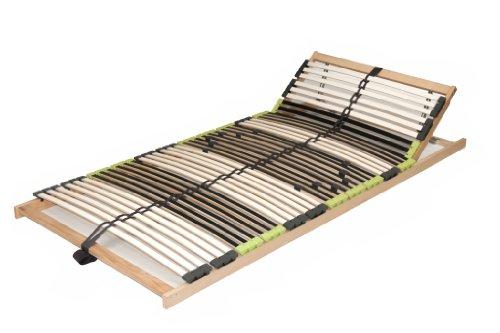 "7 Zonen Buche Lattenrahmen Lattenrost 140×200 cm ""DaMi Relax Kopf verstellbar"" zerlegt inkl. 6 fache Härteverstellung"