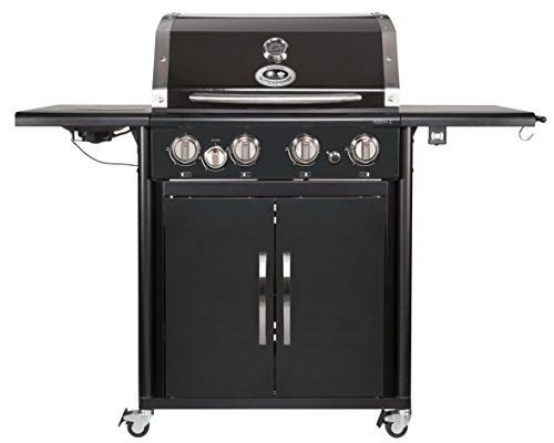 PERTH 4G + schwarz BBQ Gasgrill Grillstation, 4 Brenner, 18.131.29