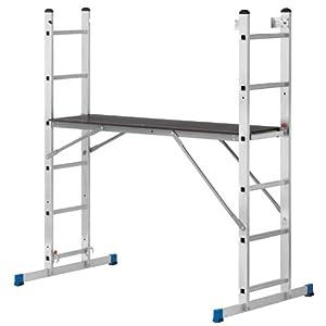 Aluminium Arbeitsgerüst und Leiterkombination  BaumarktKundenbewertung und Beschreibung