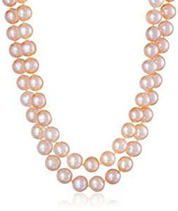 """Pink Freshwater Cultured Pearl Necklace, 50"""""""