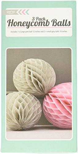 ginger-ray-gris-et-rose-boules-honeycomb-pendaison-partie-decoration-chevron-divin
