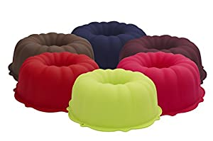 Marathon Housewares Premium Silicone Bundt Pans, Multiple Colors