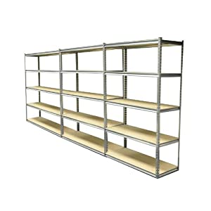 set 3 heavy duty 5 tier shelf shelving units garage