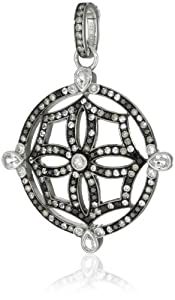 Katie Decker Mosaic Maltese Cross Pendant Necklace Enhancer