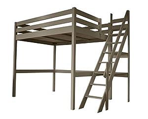 abc meubles lit mezzanine sylvia 140 200 avec escalier de meunier cuisine maison. Black Bedroom Furniture Sets. Home Design Ideas
