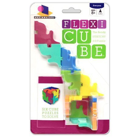 Brainwright Flexi Cube, The Bendy Stretchy 3D Puzzle by Ceaco