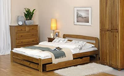"NEW Super King size solid wooden bed fram The ""ONE"" with slats available in various colors : Oak , Alder , Walnut"