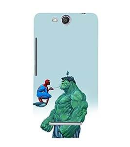 printtech Superhero Avengers Back Case Cover for Micromax Canvas Juice 3 Q392