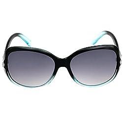 Eyeland Non-Polarized Oversized Sunglasses (Blue, EYE175)