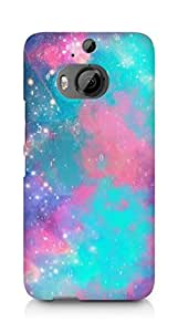 AMEZ designer printed 3d premium high quality back case cover for HTC One M9+ (shades sparkle)