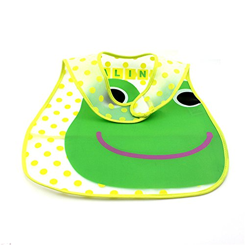 Frog Pattern Hot Infant Bib Baby Toddler Pinny Feeding Care Waterproof Bib Random Color front-1017676