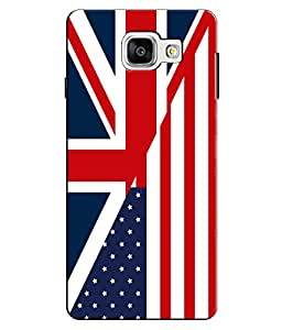 EU4IA British USA Flag Pattern MATTE FINISH 3D Back Cover Case For GALAXY A5 ...
