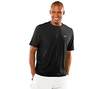 Men's TNP Shortsleeve T-Shirt Tops by Under Armour Small Black