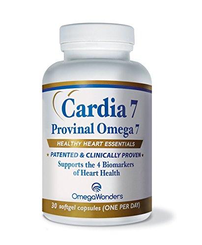 Cardia 7 Provinal Omega 7 Fatty Acids - 30 Oil Capsules (Omega 3 Barry Sears compare prices)