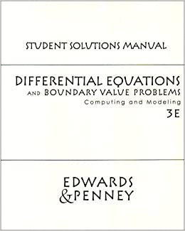 Differential equations and boundary value problems edwards penney