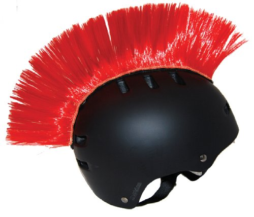 PC RACING Helmet Customization Red Mohawk – Give your helmet some Attitude !