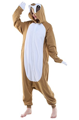 Newcosplay-Unisex-Aduit-Sloth-Pajamas-Plush-One-Piece-Cosplay-Animal-Costume
