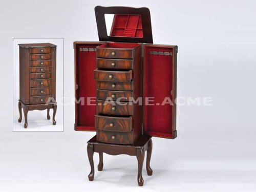 Acme Acme 97018 Vivan Jewelry Armoire, Cherry Finish
