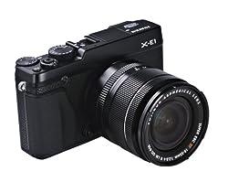 FUJIFILM デジタル一眼カメラ X-E1 レンズキット ズームレンズ付属 ブラック X-E1/XF18-55 SET B