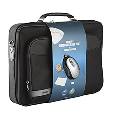 Tech air 15.6 inch Laptop Case with Shoulder Strap and Optical USB 2 Button Mouse from Tech Air