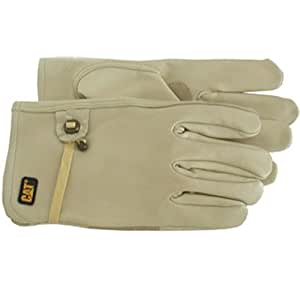 Cat Gloves Rainwear Boss Mfg CAT012110L Large Leather Driver Glove