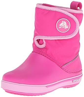 Crocs Crocband II.5 Gust Boot Kids, Unisex-Kinder Warm gefüttert Gummistiefel Halbschaft Stiefel & Stiefeletten, Pink (Neon Magenta/Carnation 6L4), 32/33 EU