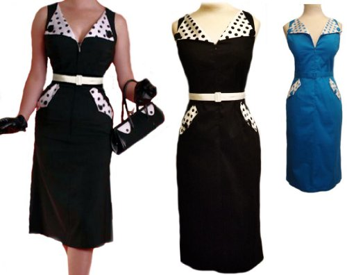 Aprils New Marilyn Pencil 1950&#8242;s Vintage Evening Wiggle Dress