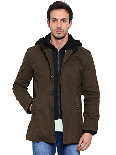 SHOWOFF-Mens-Full-Sleeves-Solid-Olive-Casual-Jacket