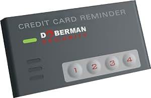 Doberman SE-0202OR Credit Card reminder. Black
