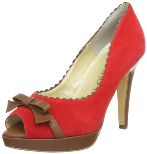 Peter Kaiser PAOLA Plateau Womens Red Rot (RUBIN SUEDE BRANDY CORTI 534) Size: 8 (42 EU)