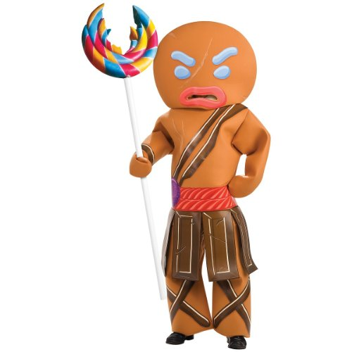 Shrek Gingerbread Man Warrior Costume, Brown, Standard