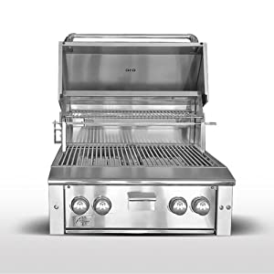 """Agape Series Stainless 42"""" Premium Natural Gas Grill 770 Square Inches Heavy Duty Red Brass Burners Electronic Ignition: Stainless"""