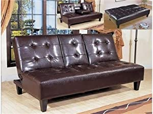 Bennett Adjustable Espresso Futon Sofa Bed