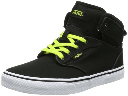 Vans Unisex-Child Atwood Hi Trainers VVH1ATF Black/Lime Green 6 UK, 39 EU